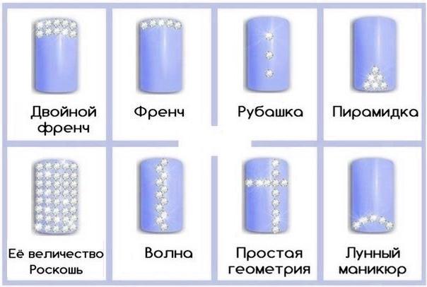 Схема для страз в маникюре