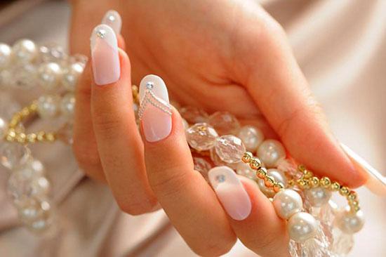 фото свадебного френча на ногтях