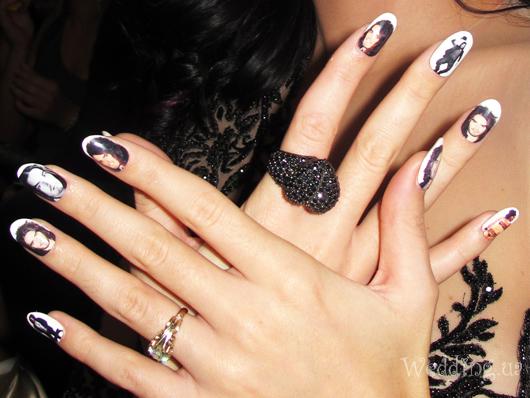 свадебные ногти: фото жениха на ногтях