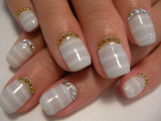 фото свадебного маникюра на короткие ногти