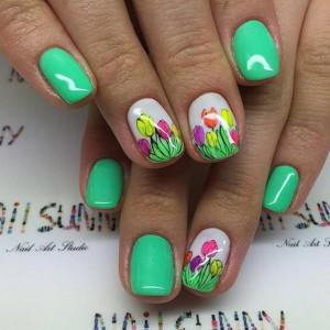 Яркий шеллак - фото идей дизайна ногтей - Best Маникюр 23