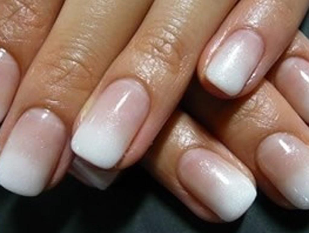 Амбре ногти шеллаком