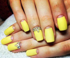 Желтый маникюр: фото дизайна ногтей желтого цвета, маникюр