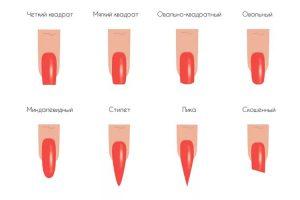Какие бывают формы гелевых ногтей