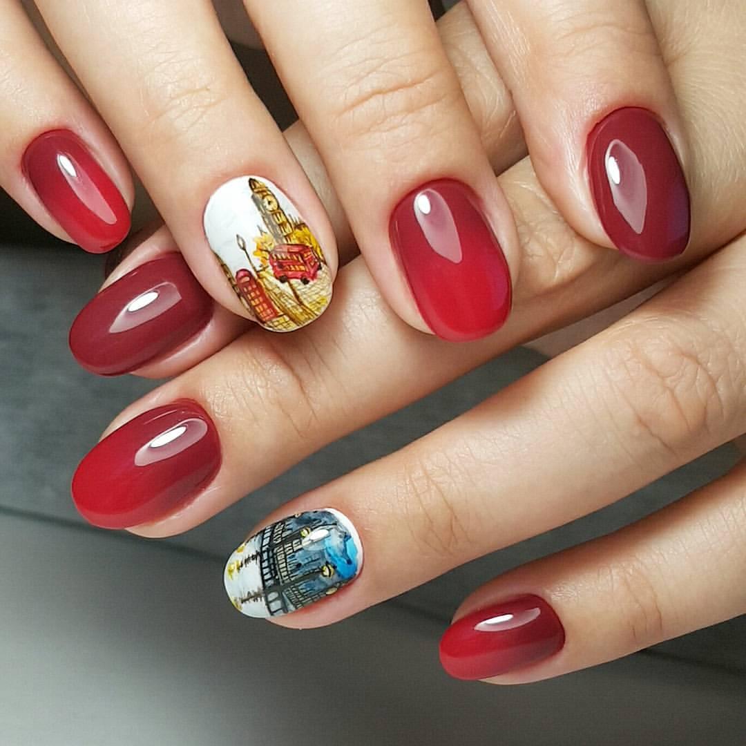 Дизайн ногтей гель-лаком 85