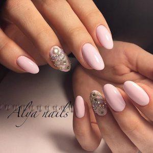 Ногти овальные красивые