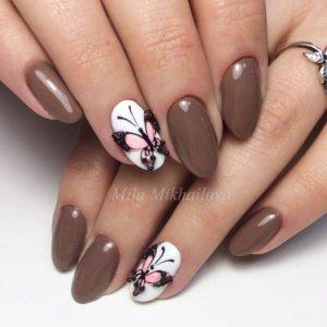 дизайн ногтей миндальной формы дизайн фото