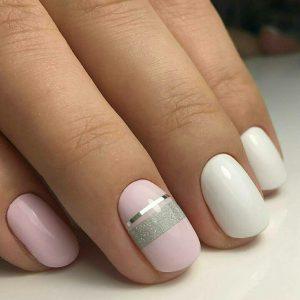 Дизайн на короткие круглые ногти фото
