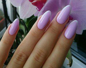 Френч миндальная форма ногтей