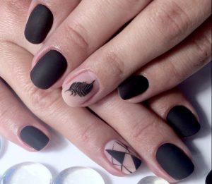 Ногти миндальной формы дизайн фото матовый