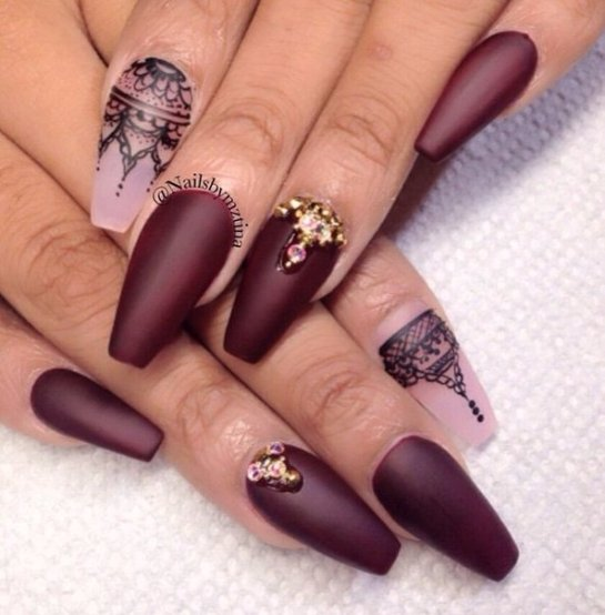 Best Nail Designs Pictures 2016 2017 For Girls: Ногти балерина: дизайн для формы на фото