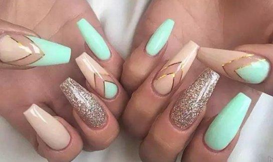 Нарощенные ногти дизайн омбре 50