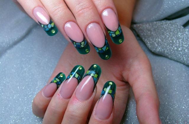 модный френч на ногтях фото